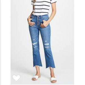 Madewell button-front Cali Demi boot jeans petite